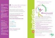 « Au cœur des services » Mardi 30 juin 2009 - EVTA