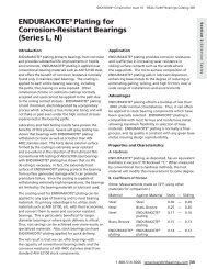 eNDuRaKoTe® Plating for Corrosion-Resistant ... - Kaydon Bearings