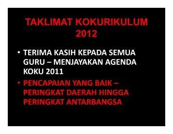 TAKLIMAT KOKURIKULUM 2012