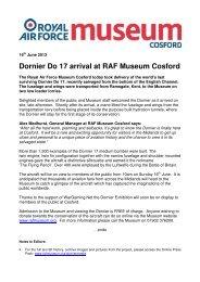 Dornier Do 17 arrival at RAF Museum Cosford - Royal Air Force ...