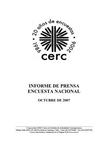 INFORME DE PRENSA ENCUESTA NACIONAL - Emol.com
