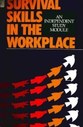 Survival Skills in the Workplace - American Nurses Association