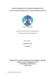 sistem informasi manajemen keperawatan - FIK UI - Universitas ...