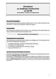 Informationsblatt zur zweijährigen Fachoberschule - OSZ ...