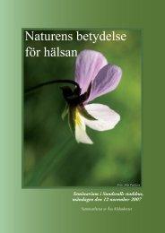 Naturens betydelse för hälsan - Sundsvall