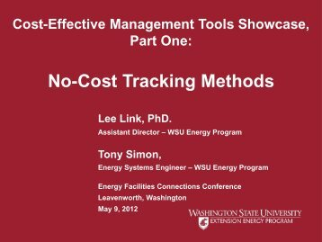 No-Cost Tracking Methods - WSU Conference Management