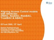 Aligning Access Control models with Attributes - Internet2 ...