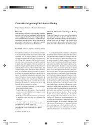 Controllo dei germogli in tabacco Burley - Inea