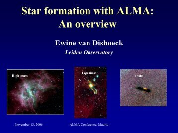 Star formation with ALMA: An overview