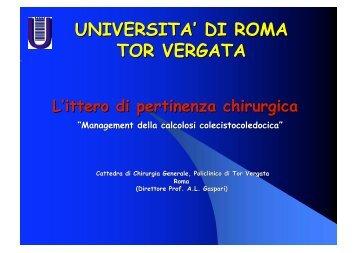 Ittero - Cattedra Chirurgia Tor Vergata