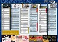 Jahreskalender 2013 - Upland Tips