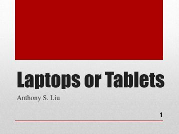 Tablets or Laptops a PDF