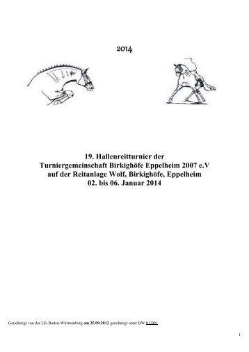 Programmheft (0,4 MB, pdf) - Reitanlage Wolf in Eppelheim