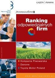 Ranking firm - Forum Odpowiedzialnego Biznesu