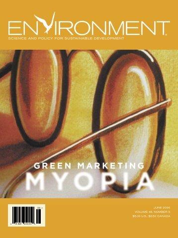 Green Marketing Myopia - Design for Sustainability