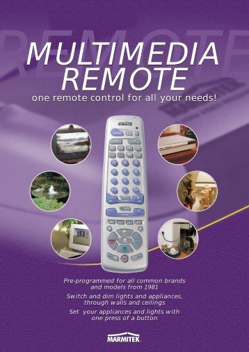one remote control for all your needs!