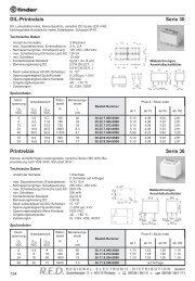 DIL-Printrelais Serie 30 Printrelais Serie 36