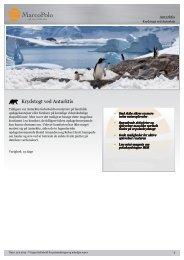 Krydstogt ved Antarktis - MarcoPolo