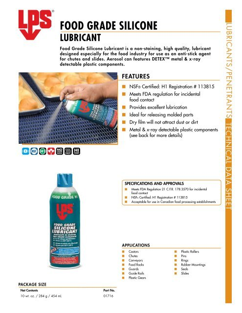 FOOD GRADE SILICONE LUBRICANT - LPS Laboratories