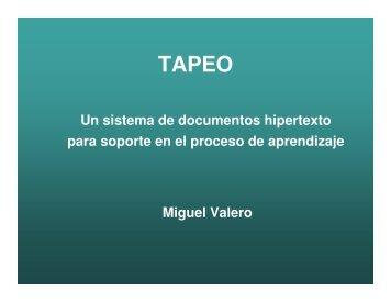 Un sistema de documentos hipertexto para soporte en el proceso de ...