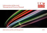 Information & Records Management Process Manual - University of ...
