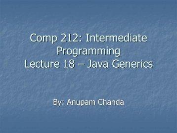 Java Generics - clear