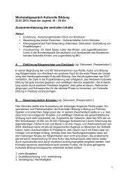 Zusammenfassung - Kulturelle Bildung Freiburg