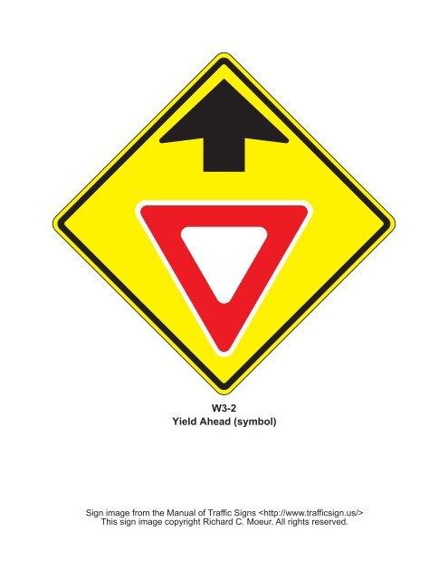 W3-2 Yield Ahead (symbol) - Manual of Traffic Signs
