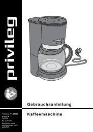 Gebrauchsanleitung Kaffeemaschine - Privileg