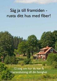 Information om fiber på landsbygden - Ljungby