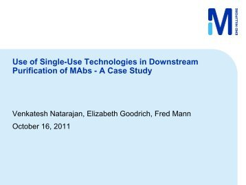 Use of Single-Use Technologies in Downstream Purification of mAbs
