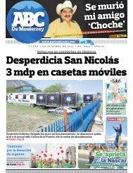 Desperdicia San Nicolás 3 mdp en casetas móviles - Periodicoabc.mx
