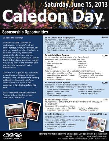 Sponsorship Opportunities - Town of Caledon