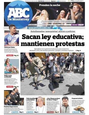 Sacan ley educativa; mantienen protestas - Periodicoabc.mx