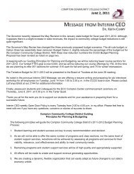 Message from the Interim CEO - 06/02/2011 (PDF) - Compton ...