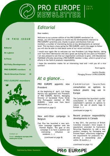 PRO EUROPE members' news