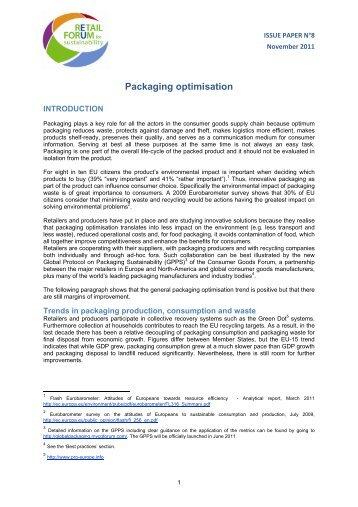 Packaging optimisation - European Commission - Europa