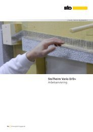 StoTherm Vario D/D+ Arbetsanvisning - Sto Scandinavia AB