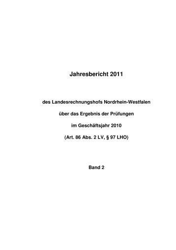Band 2 - Landesrechnungshof des Landes Nordrhein-Westfalen ...