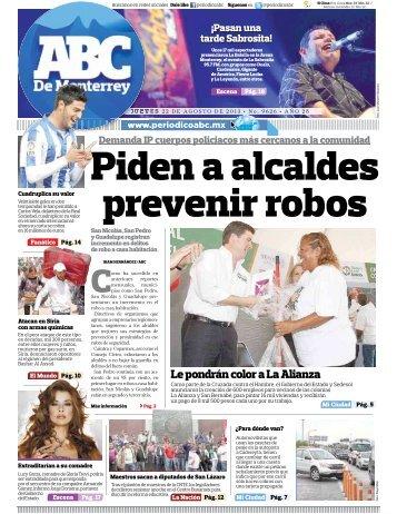 Piden a alcaldes prevenir robos - Periodicoabc.mx