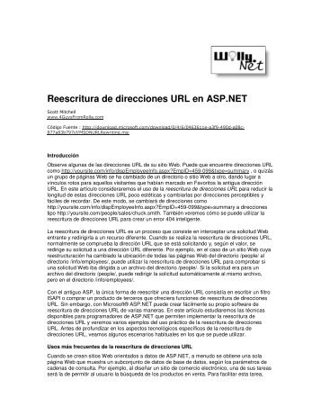 Reescritura de direcciones URL en ASP.NET - Willy .Net