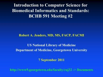 Introduction to Computer Science for Biomedical Informatics and ...