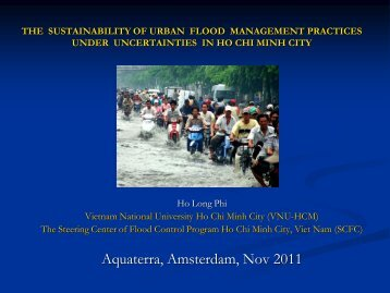 CLIMATE CHANGE AND URBAN FLOODING IN HO CHI MINH CITY