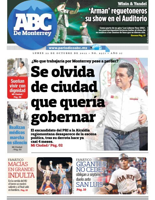 Se olvida de ciudad que quería gobernar - Periodicoabc.mx