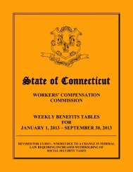 REVISED Weekly Benefits Tables for January 1, 2013