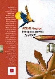 ADEME - Rapport d'activité 2007 - ADEME Guyane