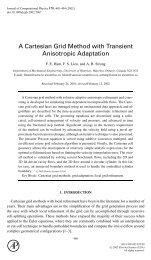 A Cartesian Grid Method with Transient Anisotropic Adaptation