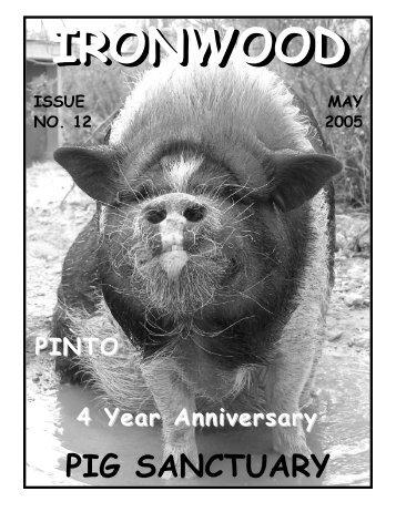 **May 2005 Newsletter - Ironwood Pig Sanctuary