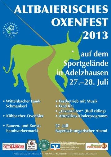 abwechslungsreichen Programm - Wittelsbacher Land eV