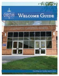 New Family Welcome Guide - Charlotte Christian School